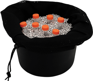 Lab Armor beads in chill bucket
